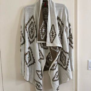 Cream and brown tribal cardigan!!!